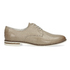 Skórzane półbuty damskie bata, beżowy, 526-8650 - 19