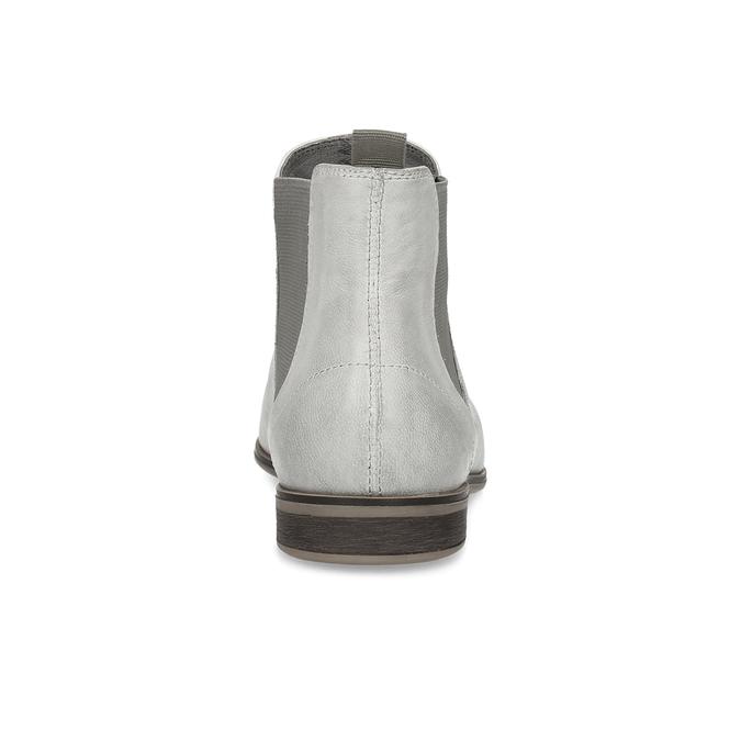Skórzane obuwie damskie typu chelsea bata, szary, 596-1684 - 15