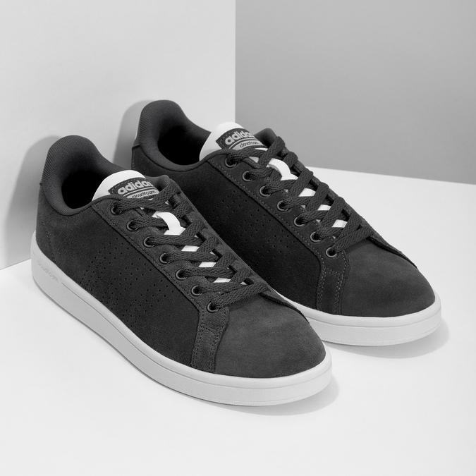 Nieformalne zamszowe trampki adidas, czarny, 803-6394 - 26
