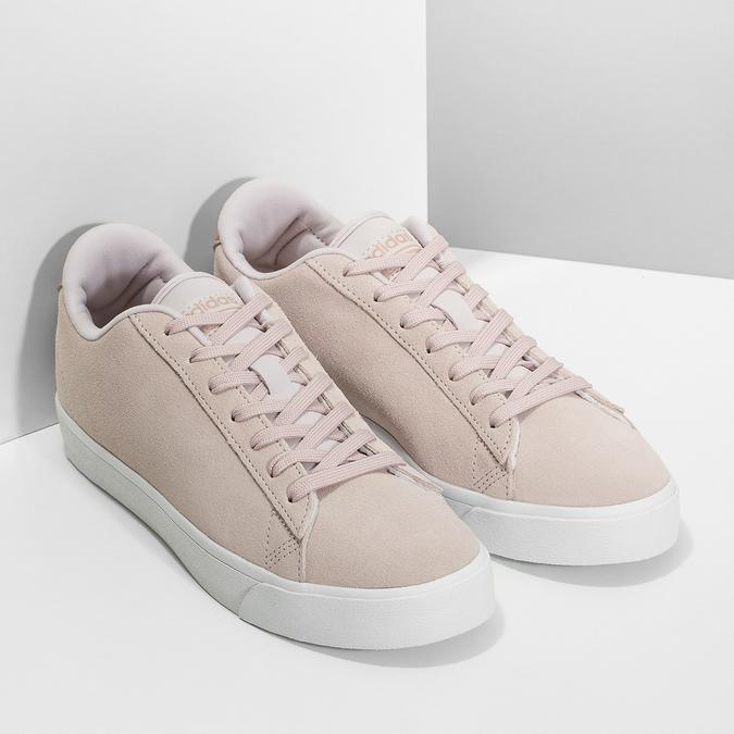 Różowe zamszowe trampki adidas, różowy, 503-2554 - 26