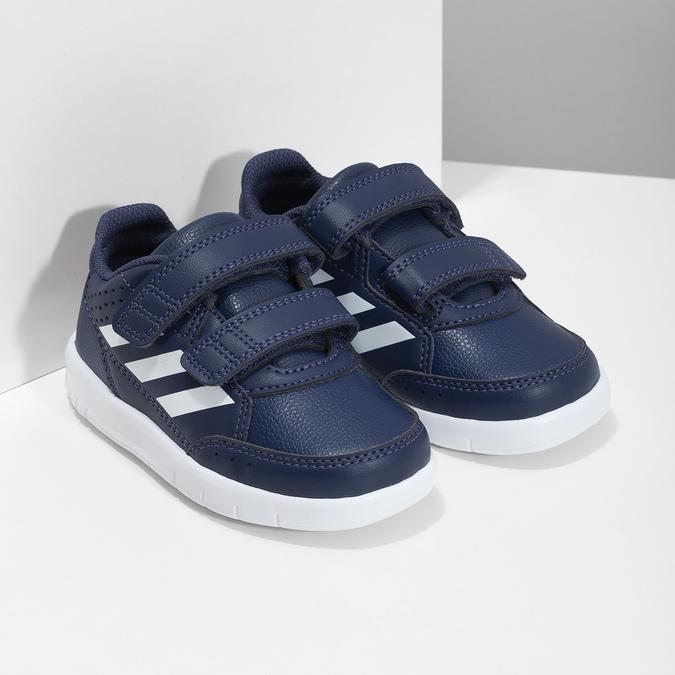 Granatowe trampki na rzepy adidas, niebieski, 101-9151 - 26