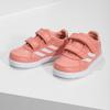 Różowe trampki dziewczęce na rzepy adidas, różowy, 101-5151 - 16