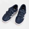 Granatowe trampki dziecięce na rzepy adidas, niebieski, 301-9151 - 16