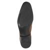 Brązowe skórzane półbuty typu angielki zfakturą bata, brązowy, 826-3945 - 19