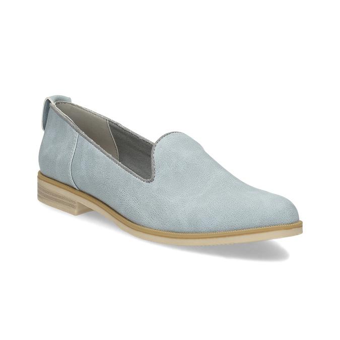 Skórzane loafersy damskie bata, niebieski, 519-9605 - 13