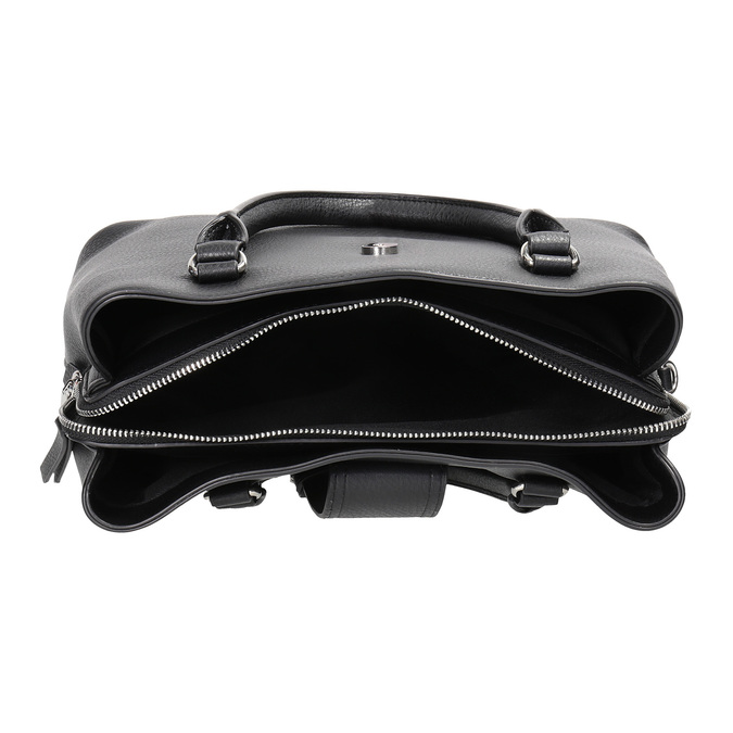 Czarna torba zodpinanym paskiem bata, czarny, 961-6216 - 15