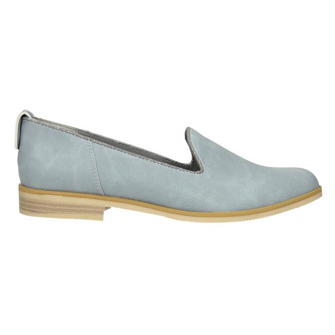 Skórzane loafersy damskie bata, niebieski, 519-9605 - 26