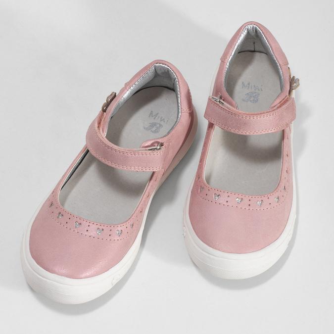 Różowe baleriny dziewczęce mini-b, różowy, 221-5216 - 16