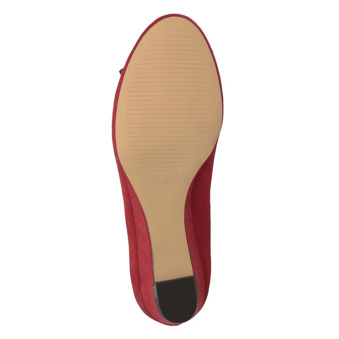 Czerwone baleriny na koturnach bata, czerwony, 629-5633 - 19