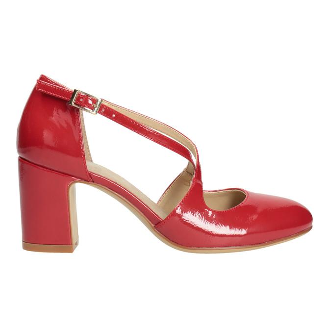 Lakierowane czółenka damskie insolia, czerwony, 721-5611 - 26