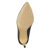 Czarne skórzane czółenka zperforacją insolia, czarny, 724-6660 - 19