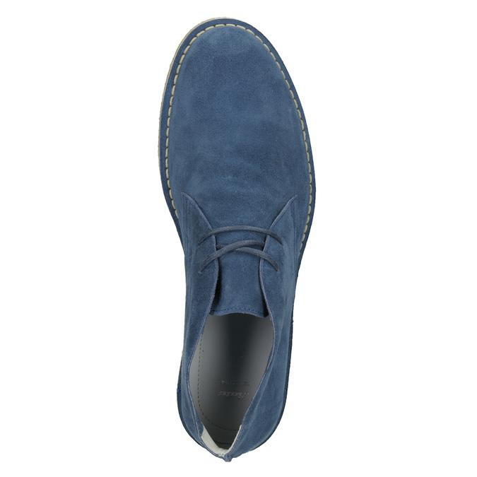 Granatowe skórzane buty pustynne bata, 823-9622 - 17