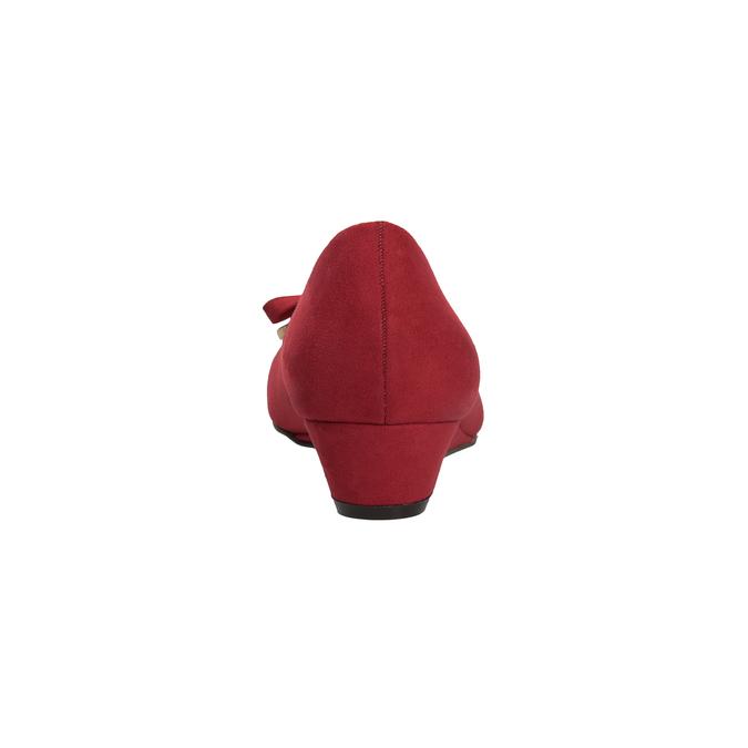 Czerwone baleriny na koturnach bata, czerwony, 629-5633 - 15