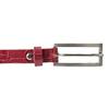 Czerwony skórzany pasek damski bata, czerwony, 954-5204 - 26