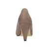 Beżowe czółenka na rozszerzanych słupkach insolia, 629-8634 - 15