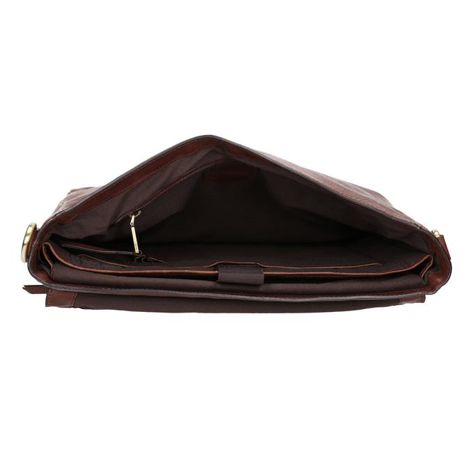 Skórzana teczka męska bata, brązowy, 964-3285 - 15