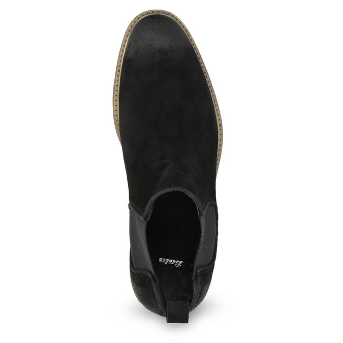 Zamszowe buty typu chelsea bata, czarny, 823-6628 - 17