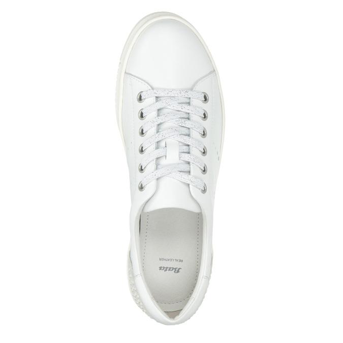 Nieformalne skórzane trampki damskie bata, biały, 544-1606 - 15