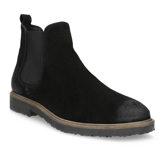Zamszowe buty typu chelsea bata, czarny, 823-6628 - 13
