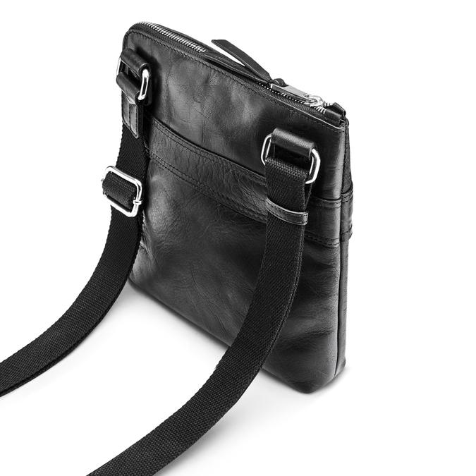 Czarna skórzana torba typu crossbody bata, czarny, 964-6288 - 17