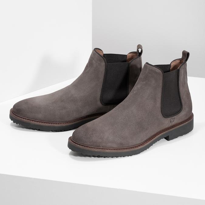 Skórzane obuwie typu chelsea na grubej podeszwie bata, 823-8628 - 16