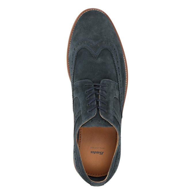 Nieformalne skórzane półbuty męskie bata, 823-9619 - 17