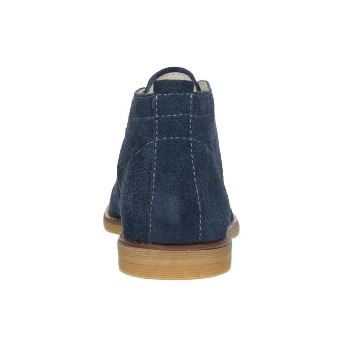 Skórzane buty pustynne dla dzieci mini-b, niebieski, 313-9144 - 16