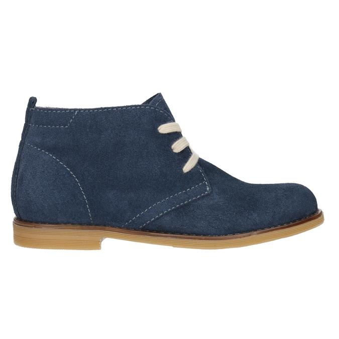 Skórzane buty pustynne dla dzieci mini-b, niebieski, 313-9144 - 26