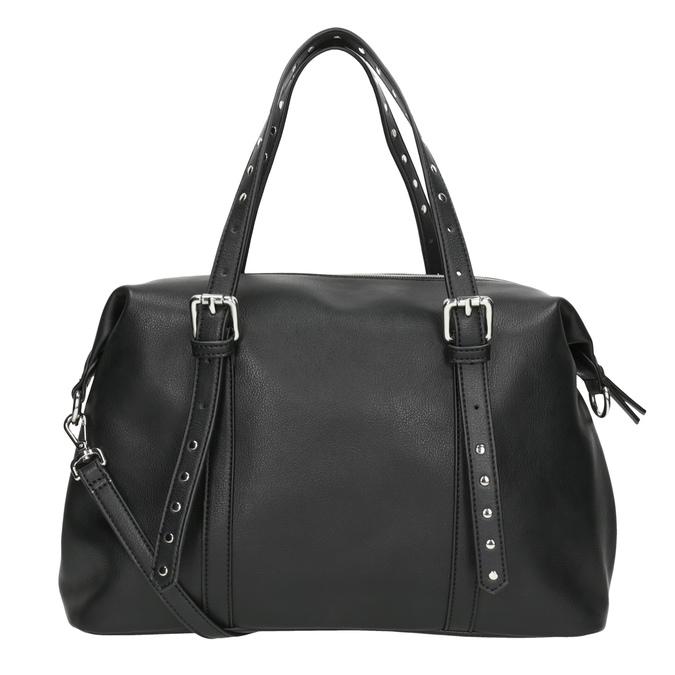 Czarna torebka zmetalowymi ćwiekami bata, czarny, 961-6834 - 16
