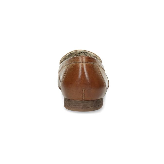 Brązowe mokasyny damskie zwędzidłami bata, brązowy, 516-3615 - 15