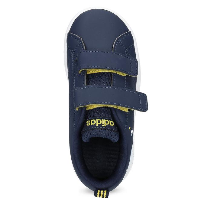 Granatowe trampki dziecięce na rzepy adidas, niebieski, 101-9129 - 17
