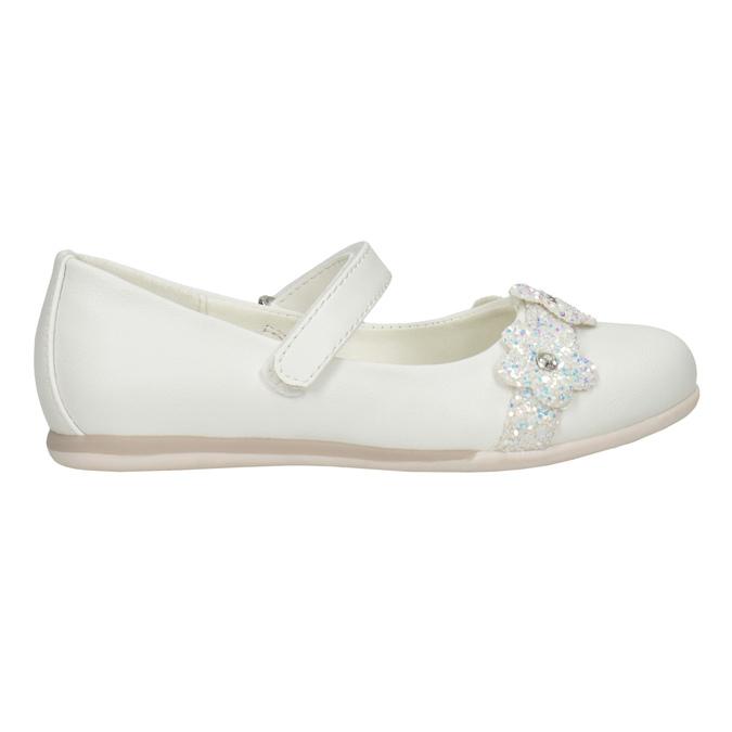 Białe baleriny zkwiatkami ibrokatem mini-b, biały, 229-1106 - 26