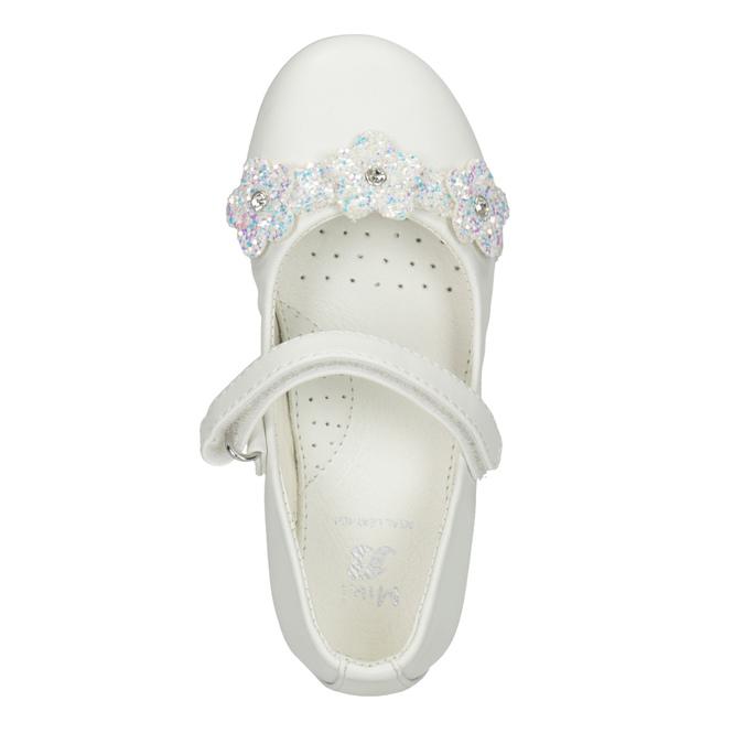 Białe baleriny zkwiatkami ibrokatem mini-b, biały, 229-1106 - 15