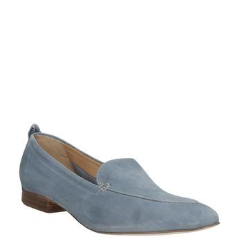 Nieformalne zamszowe mokasyny bata, niebieski, 516-9618 - 13