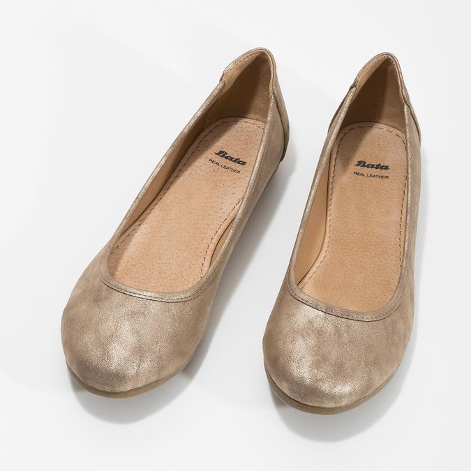 Złote baleriny damskie bata, 529-8640 - 16