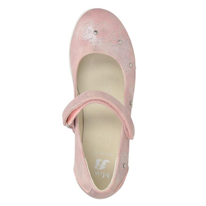Różowe baleriny dziewczęce zćwiekami mini-b, różowy, 321-5615 - 15