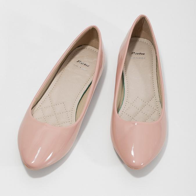 Lakierowane damskie baleriny bata, różowy, 521-5602 - 16