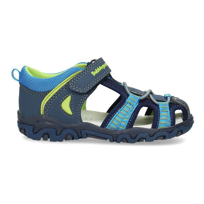 Sandały dziecięce na rzepy bubblegummer, niebieski, 161-9609 - 19