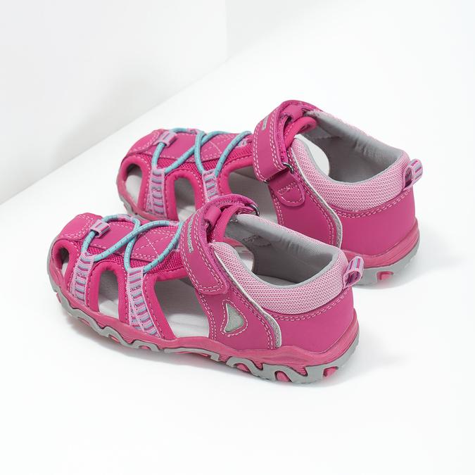 Różowe sandały dziecięce bubblegummer, 161-5609 - 16