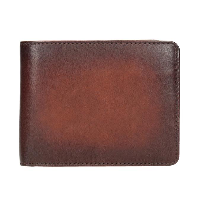 Skórzany portfel męski zefektem ombré bata, brązowy, 944-3193 - 26