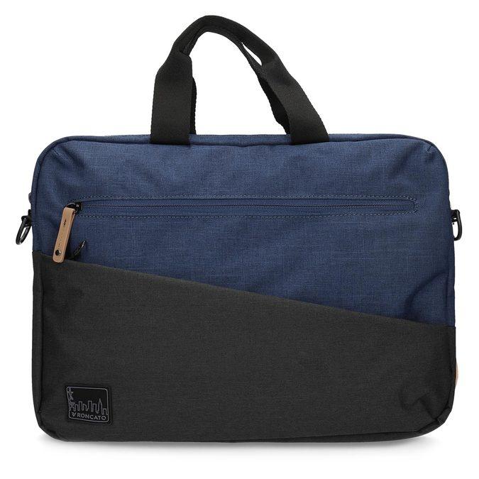 Czarno-granatowa torba na laptopa roncato, niebieski, 969-9698 - 26