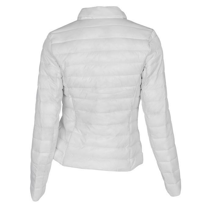 Biała pikowana kurtka zkołnierzykiem bata, biały, 979-1182 - 26