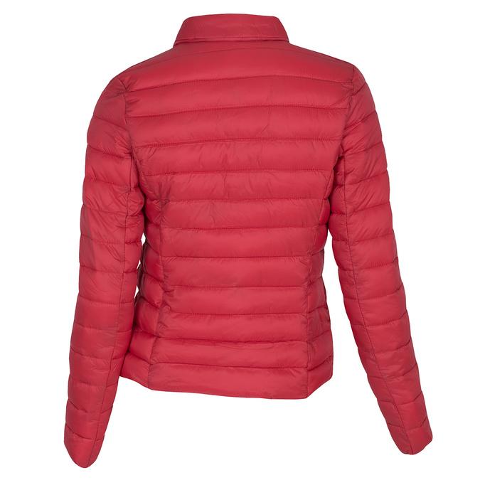 Czerwona pikowana kurtka zkołnierzykiem bata, czerwony, 979-5182 - 26