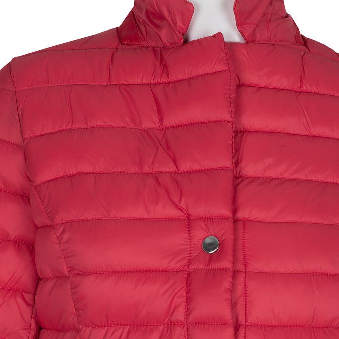 Czerwona pikowana kurtka zkołnierzykiem bata, czerwony, 979-5182 - 16