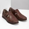Skórzane sandały na rzepy fluchos, brązowy, 864-4605 - 26