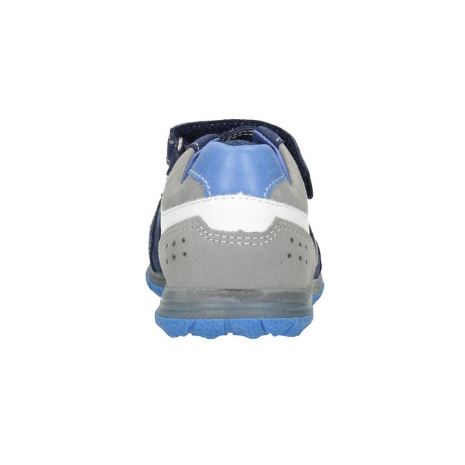 Niebieskie skórzane trampki dziecięce mini-b, niebieski, 213-9604 - 16