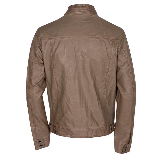 Brązowa kurtka męska ze skóry ekologicznej bata, brązowy, 971-3194 - 26