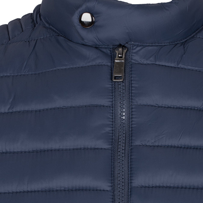 Granatowa pikowana kurtka męska bata, niebieski, 979-9114 - 16