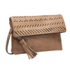Brązowa torebka typu crossbody zchwostem bata, brązowy, 961-4829 - 13