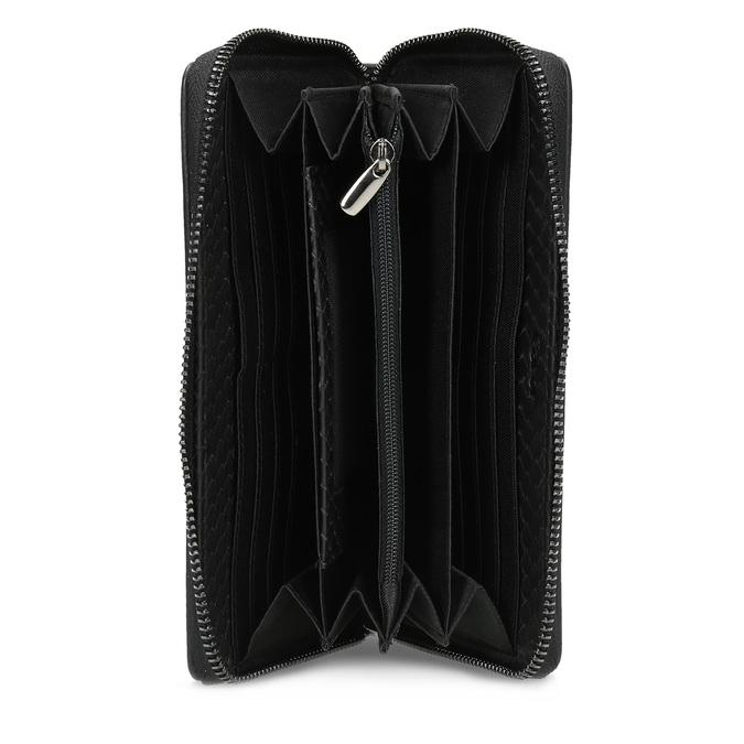 Skórzany portfel damski ofakturze łusek gabor-bags, czarny, 946-6002 - 15